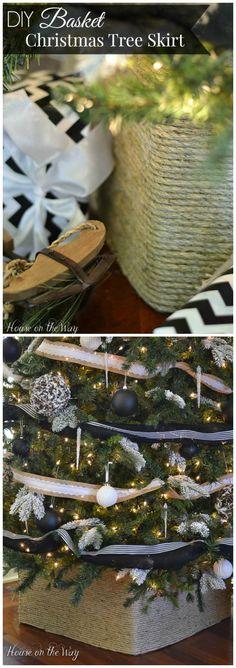 DIY Basket Christmas Tree Stand Holder
