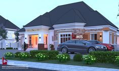 #Architecture #Nigerianbuildingdesigns #MastersTouchStudios #Homes #House #Nigeria #bungalow #beauty #fine #Design #Exterior #Modern #HouseDesign #HomeDecor #HouseStyles #HouseExterior #love #pinterest #beautiful #nice              4 Bedroom Bungalow design  Minimum size of land is 100ft by 100ft.   Contact +2348032582385, +2348174058017 (Calls and Whatsapp) E mail: Masterstouchstudios1@gmail.com Modern Bungalow House, Bungalow House Plans, Bedroom House Plans, Architect Design House, Bungalow House Design, Bungalow Designs, House Construction Plan, House Design Pictures, Architectural House Plans