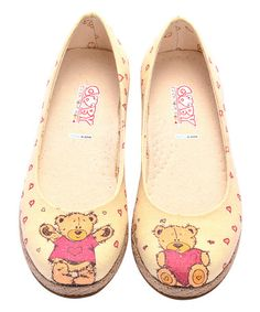 This Pink Teddy Bear Espadrille is perfect! #zulilyfinds