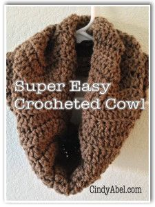 super easy crocheted cowl pattern