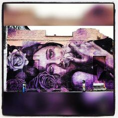 #streetart #london #rone #girl #purple #rose #england #londonstreetart #street #art #streetartlondon #graffiti http://t.co/G26cNg2KxE