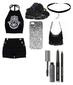 """""""Untitled #91"""" by minniieminii on Polyvore featuring Boohoo, Boutique Moschino, Topshop and Bobbi Brown Cosmetics"""