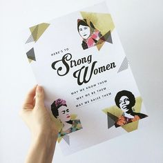 Happy feminist Friday! Our Strong Women print is the perfect gift for your girl gang and feminista sistahs this Christmas. Only $10 and printed using 100% recycled stock by the babes at @wordswithheart Link in bio! 💜🙌🏾❤️all proceeds support women's empowerment programs in Nepal and Cambodia 🌀🌏💚