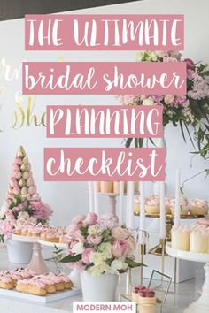 Planning a bridal shower takes nerves of steel, executing it flawlessly requires mad skill. Lucky for you, we have plenty of both. We also have a full proof bridal shower planning checklist of… Bridal Shower Checklist, Bridal Shower Planning, Bridal Shower Tables, Bridal Shower Party, Bridal Shower Rustic, Bridal Shower Decorations, Wedding Showers, Wedding Planning, Bridal Shower Ideas Spring