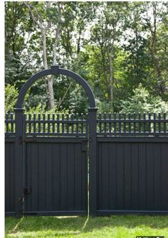 gray painted fence - Google Search