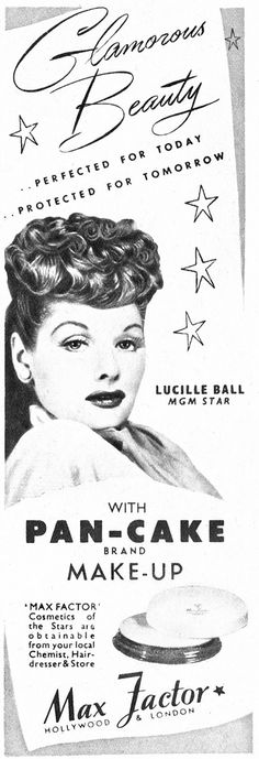 Max Factor Ad ~ Lucille Ball