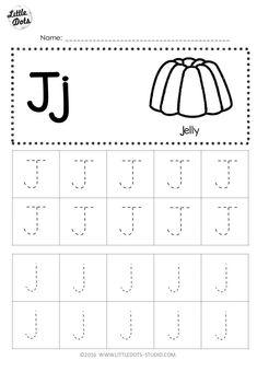 Free Letter J Tracing Worksheets Pre K Worksheets, Letter Worksheets For Preschool, Alphabet Tracing Worksheets, Free Kindergarten Worksheets, Preschool Writing, Tracing Letters, Preschool Letters, Handwriting Worksheets, Handwriting Practice