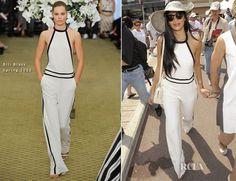 Nicole Scherzinger In Bill Blass - Monte Carlo Grand Prix