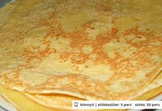 Édes palacsinta alaptészta - Nosalty - Andi80 Gourmet Recipes, Pasta Recipes, Bread Recipes, Cake Recipes, Cooking Recipes, Slovak Recipes, Hungarian Recipes, Hungarian Food, Bread Rolls