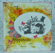 A creation with Gelatos, Artistic Outpost and Kaisecraft stamps.