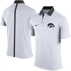 8721ff5f6 Nike Iowa Hawkeyes White Coaches Sideline Dri-FIT Polo Shirt #iowa  #hawkeyes #college