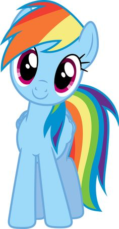 MLP - Another Happy Dashie by geometrymathalgebra @deviantart