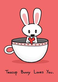 Teacup Bunny Love ~Etsy