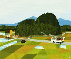 Landscape paintings of Hiromichi Ito, Hiromichi majored in illustration at San Francisco's Academy of Art University and then returned to Japan to study under the amazing Tatsuro Kiuchi.