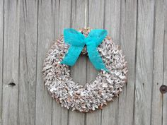 Rustic white wreathwedding decor wreaths ecorustic by Kreacje
