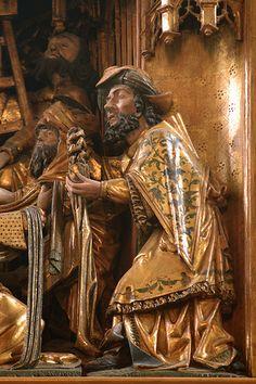 Dortmund, Westfalen, Petrikirche, altar, deposition, detail...« Le miracle doré de Dortmund » (1521) retable anversois de Jan Gilliz Wrage, peintures Adriaen van Overbeck