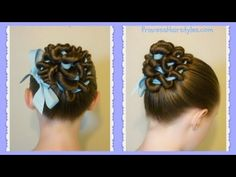 Ribbon Coiled Bun Hairstyle Tutorial - YouTube