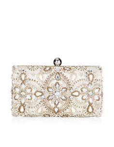Georgina Embellished Hardcase Clutch Bag