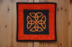 Celtic Love Knot Quilted Wall Hanging by SweetestDaisy on Etsy, $45.00