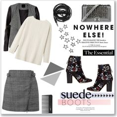 How To Wear Style staple Suede boots <3 Outfit Idea 2017 - Fashion Trends Ready To Wear For Plus Size, Curvy Women Over 20, 30, 40, 50