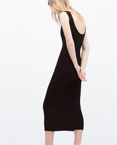 LONG RIBBED DRESS-- | ZARA United States