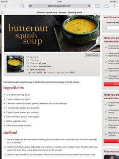 Slimming world butternut squash soup. #slimmingworld #synfree