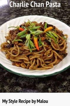 Charlie Chan Pasta…My Style…   My Style Recipe by Malou