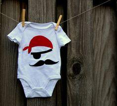 Cute Pirate Mustache onsie