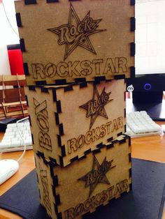 Rock Star Energy Drink since1999 : ROCKSTAR LIMITED EDITION COLLECTERS WOODEN BOX( co...