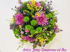 Afscheidsbloemwerk Biedermeier Jenny Graansma-vd Bos