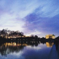 Dusk at the #lincolnmemorial
