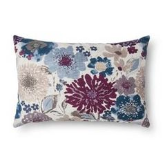 Purple Floral Oblong Throw Pillow - Threshold™ : Target