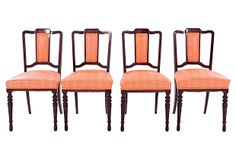 One Kings Lane - Dramatic & Discerning - English Dining Chairs, C. 1940, S/4