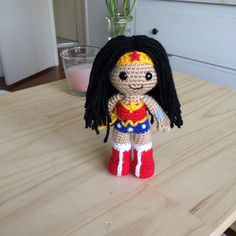 Looking for your next project? You're going to love Wonder Woman Amigurumi by designer 53stitches.
