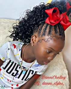 For Kids Stitch kids Updo 👌🏽 Little Girls Natural Hairstyles, Cute Little Girl Hairstyles, Little Girl Braids, Baby Girl Hairstyles, Natural Hairstyles For Kids, Braids For Kids, Braids For Black Kids, Mixed Kids Hairstyles, Kid Braids