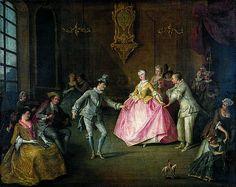Nicolas Lancret, Après le bal costumé, 1ère moitié du XVIIIème siècle MBA Nantes
