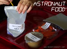 Astronaut food for a Rocket/space birthday party