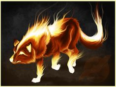 fire wolf | fire wolf from hell 3 - AerinDeer28's Angels & demons wolf pack ...