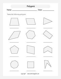 Our 5 favorite preK math worksheets | Worksheets, Polygon Shape ...