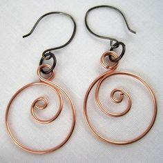 diy wire jewelry tutorials | DIY Tutorial: DIY Wrapped Jewelry / DIY Zen Spiral Hoop Earrings ...