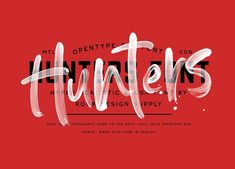 Take your design game to the next level with a hyper realistic font that truly looks hand painted. Hunters uses brand new font technology that makes way for Brush Script, Creative Fonts, Custom Fonts, Branding, Photoshop Brushes, Tattoo Fonts, New Fonts, Game Design, Logos