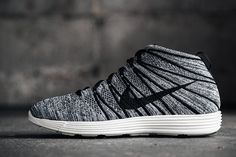 Nike Lunar Flyknit Chukka | Black  White