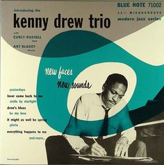"""Kenny Drew Trio"", Album Cover, 'Blue Note' Records, - Graphic Design by Reid Miles - American). Lp Cover, Vinyl Cover, Cover Art, Cool Album Covers, Music Album Covers, Album Design, Blue Note Jazz, Francis Wolff, Vinyl Sleeves"