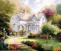 Home Is Where The Heart Is II by Thomas Kinkade  ~~expresses those things I value most about family. The classic farm house offers comfort and intimacy and the flowering apple trees promise a rich harvest. It is a favorite saying of mine... and one of my favorite collections I warmly offer to collectors, heart to heart.