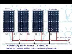 Connecting Solar Panels In Parallel Connection #solarpanels,solarenergy,solarpower,solargenerator,solarpanelkits,solarwaterheater,solarshingles,solarcell,solarpowersystem,solarpanelinstallation,solarsolutions Solar Energy Panels, Best Solar Panels, Renewable Sources Of Energy, Solar Projects, Energy Projects, Solar Installation, Solar Charger, Solar Energy System, Alternative Energy