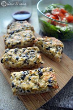 Pan con aceitunas www.pizcadesabor.com