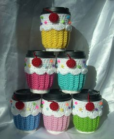 U Pic Color Cupcake Cup Cozy Sleeve  for HOT or by KellyzKreationz, $12.00