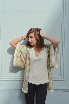 Coudre un kimono à dentelle, c'est simple comme konichiwa ! Le patron et les explications en images   Filoute
