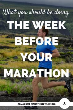 The week before marathon can be a stressful one as you wait. To reduce your stress, here is a list of things you need to focus on so you are prepared for your big day!
