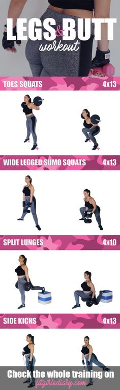 Diamond Legs and Brazilian Butt Lift Workout \u2013 30 Lower Body Workouts for Your Butt and Legs #weightlossrecipes